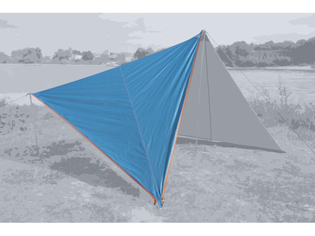 Bent Canvas Plain Dakzeil Single, hawaiian ocean/zipper orange
